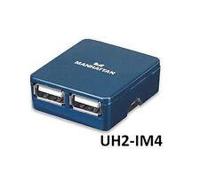 4-Port Ultra-Slim USB 2.0 Micro Hub, Manhattan 160605, UH2-IM4