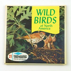 Vintage View-Master Reels Set Packet B611 WILD BIRDS OF NORTH AMERICA 1955