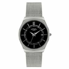 Rotary Brushed Stainless Steel Strap Wristwatches
