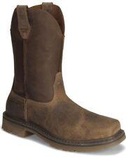 Ariat Men's Rambler Brown Leather Steel Toe Pull On Work Boot 10008642