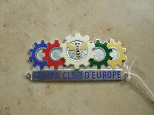 Vespa CLUB D´EUROPA Plakette ORIGINAL