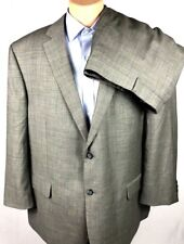 Pronto Uomo Platinum Gray Wool Vented 2-Button Suit 52R Pant (40x27) Flat Front
