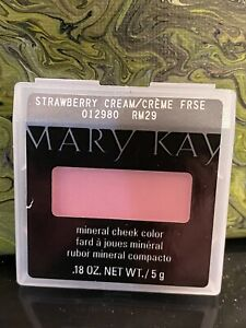 Mary Kay Mineral Cheek Color STRAWBERRY CREAM- NEW!! Discontinued