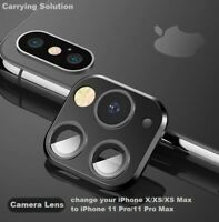 For iPhone X/XS/XS MAX To be 11 Pro Metal Rear Camera Lens Screen Protector Film