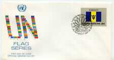 United Nations #400 Flag Series 1983, Barbados, Official Geneva Cachet, Fdc