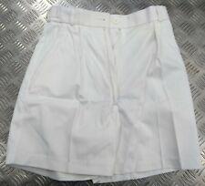 Genuine British Royal Navy Issue Womens (WRN) White & Blue Uniform Shorts - NEW