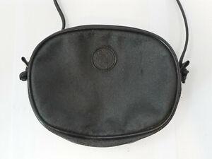 Vintage Fendi Roma Black Leather Clutch Bag