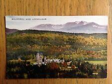 Balmoral and Lochnagar 1912 postcard