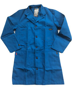 Workrite FR Nomex Amarid Blue Lab Coat Size M NFPA HRC1 Jacket 350NX60RBMD New