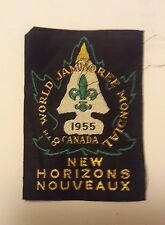 1955 WORLD SCOUT JAMBOREE - CANADA- OFFICIAL PARTICIPANT PATCH