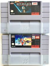 2 SUPER NINTENDO SUPER STAR WARS SET ~ EMPIRE STRIKES BACK & RETURN OF THE JEDI
