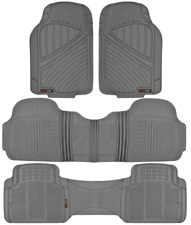 MOTOR TREND Max-Duty Van Truck 3 ROW Floor Mats Odorless Gray All Weather 4-PC
