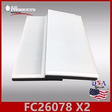 FC26078 2PC/SET CF10103 CABIN AIR FILTER ~ 2004-09 BMW 525I 2006-10 650I M5 & M6