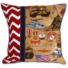 NEW Decorative Throw Pillow United States US Marines Corp Armed Forces
