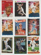 Mark McGwire 2000 TOPPS GALLERY HERITAGE & 1999 TOPPS 1985 ROOKIE REPRINT OTHERS