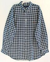 Polo Ralph Lauren Big Tall Mens XLT Green Blue Plaid Button-Front Shirt NWT XLT