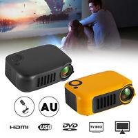A2000 Mini Portable Projector LCD 800 lumen Projectors Home Theater HDMI AU Plug