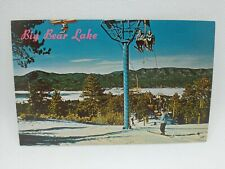 Vintage Snow Summit Chair Lift Big Bear Lake California Postcard Snow Skiing