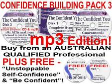 7x mp3 on CD CONFIDENCE BUILDING HYPNOTHERAPY HYPNOSIS SELF-CONFIDENCE CONFIDENT