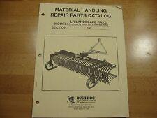 Bush Hog Landscape Rake Parts Catalog Manual LR-600 LR-720 LR-840 1998