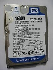 "Western Digital WD1600BEVT - 22A23T0 160Gb 2.5"" Laptop Internal SATA Hard Drive"