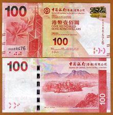 Hong Kong, $100, 2013, BOC, P-343-New, UNC