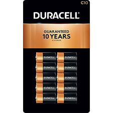 Duracell C Alkaline Batteries, C 10 Expires March 2027