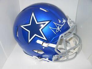Dak Prescott Autographed Full Sized Flash Speed Authentic Cowboys Helmet ! BAS W
