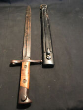 Italy 1891 Military Fighting Knife Carcano Bayonet w/ Scabbard