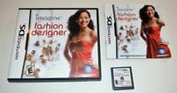 IMAGINE: FASHION DESIGNER NINTENDO DS GAME 3DS 2DS LITE CIB COMPLETE