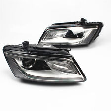 Fit AUDI Q5 8R SUV 2013-2017 Xenon Headlight Convex lens Assembly LED DRL - Pair