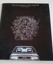 Audi V8 3.6 Saloon 1989-90 UK Market Launch Sales Brochure & Response Form