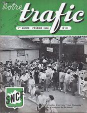 NOTRE TRAFIC n°61 fevrier 1950 gare d'arcachon