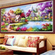 DIY 5D Diamond Embroidery Painting Garden House Cross Stitch Home Decor