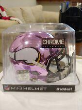 Minnesota Vikings NFL Mini Helmet Chrome Riddell Alternate New In Box