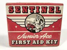 1930'S SENTINEL Junior Ace FIRST AID KIT Tin, Aviation, Pilot
