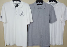 NIKE AIR JORDAN POLO SHIRT WHITE + 2 EXTRA SHIRTS NEW (LOT OF 3) (SIZE MEDIUM)
