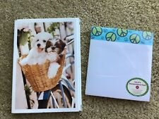 NEW LOT HALLMARK STATIONERY NOTE CARDS ENVELOPES & PEACE SIGN MEMO PAD SET GIFT!