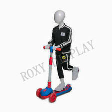 Egghead boy sport mannequin Scooter riding pose #Mz-Hb-K01