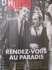 JACQUES BREL revue belge: 40 ans après 2 pages + AZNAVOUR 3 pages - 06/10/2018