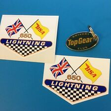 BSA Lightning Vintage Classic Motorcycle Retro Stickers Decals 100mm 2 off