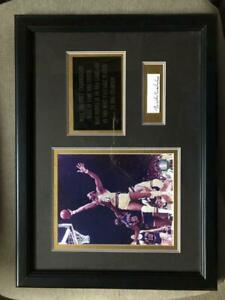 Wilt Chamberlain Framed Cut Photo Signed Autographed Autograph Auto PSA/DNA COA