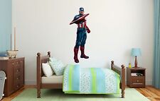 Captain America Superheroe Wall Decal Decor For Kids Childs Car Home X-Large