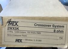 New Pair Old School Mtx 2Wx5K 2-way Crossover system,Nos,Rare,Nib,vinta ge