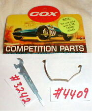 Wrench Screwdriver + Motor Clip Group by COX 2 items 1960 Original Slot Car NOS