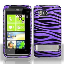 For HTC Thunderbolt 4G Protector Hard Case Snap on Phone Cover Purple Zebra