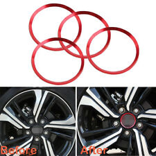 4PCS Red Alloy Wheel Center Hub Ring Decorator Covers Trim For 16-up Honda Civic