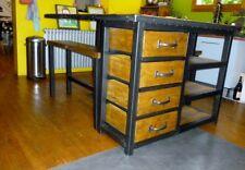Création  Ilot central style industriel IPN meuble industriel bois mètal