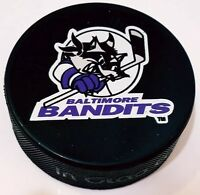 BALTIMORE BANDITS AHL OFFICIAL GAME PUCK INGLASCO HOCKEY MADE IN CANADA