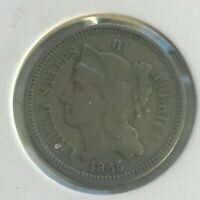 1865 Nickel 3 Cent Piece